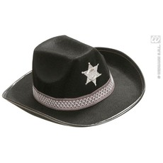 Hoed Sheriff kind zwart Deluxe