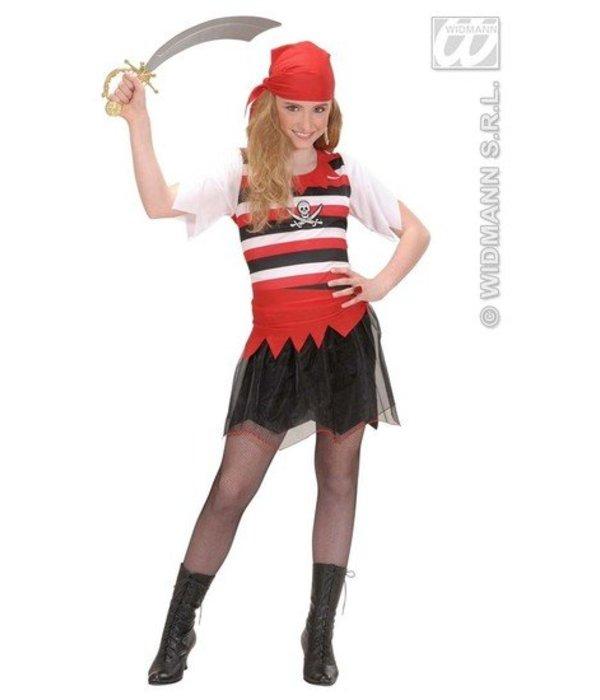 Piratenmeisje kostuum Luffy