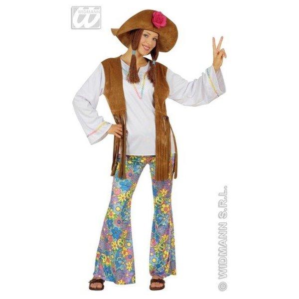 Hippie Woodstock kostuum vrouw