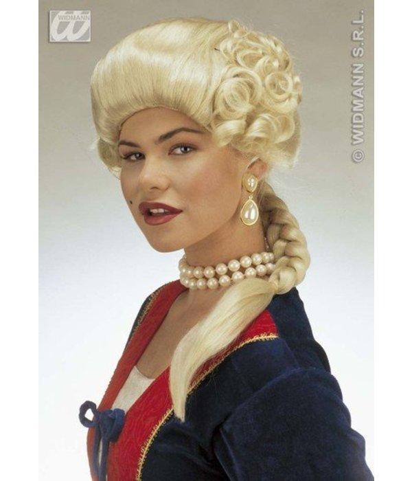 Pruik Hertogin Josephine blond