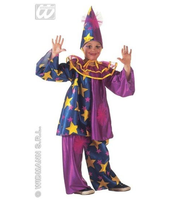 Clownspak kind met sterren