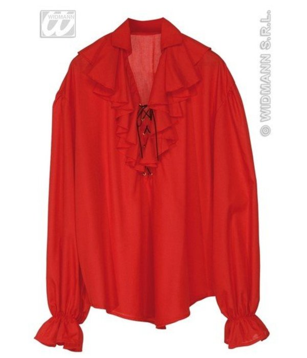 Piratenblouse rood