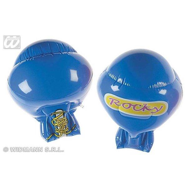 Opblaasbare bokshandschoenen blauw