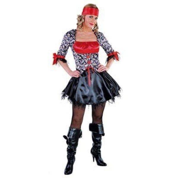 Sexy Piratendame Jurk met doodshoofden deluxe