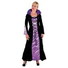 Vampier dame jurk paars/zwart