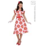 50's bloemetjes jurk