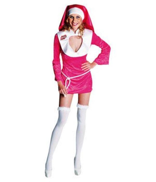Sexy roze non kostuum