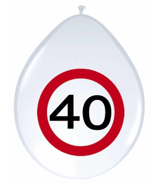Ballonnen Verkeersbord 40