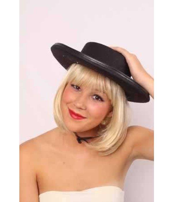 Spaanse hoed zwart afgebiesd