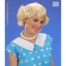 Pruik Audrey blond