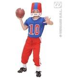 American Football speler kind kostuum