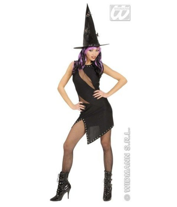 Zwarte jurk Heks of Rocker