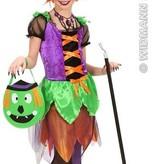 Gekleurde Heks kostuum kind