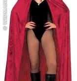 Fluwelen cape met kap Burgundy 150cm