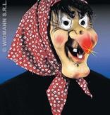 Heksen masker met oplichtende neus, haar en doek