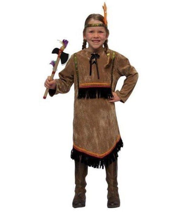 Indianenjurk + hoofband meisje Blackfeet