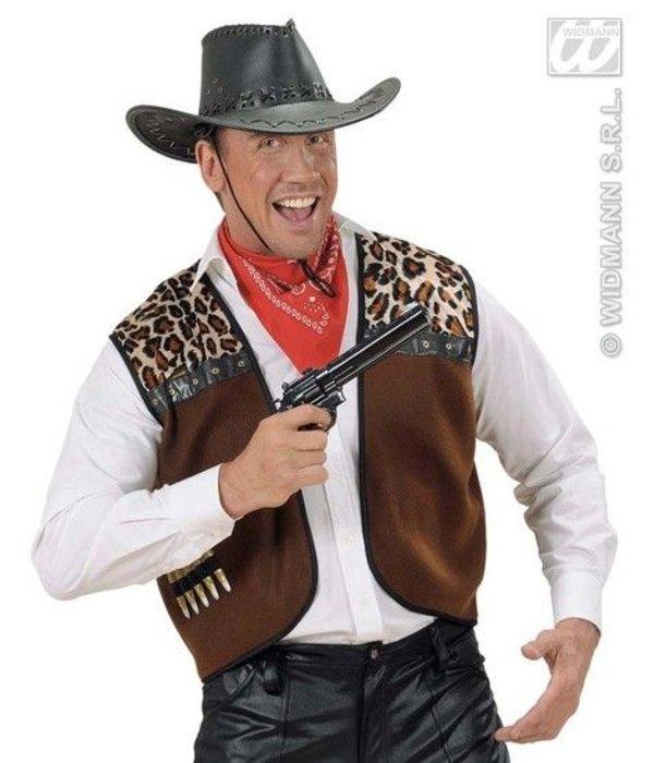 Cowboyhoed lederlook met decoratie
