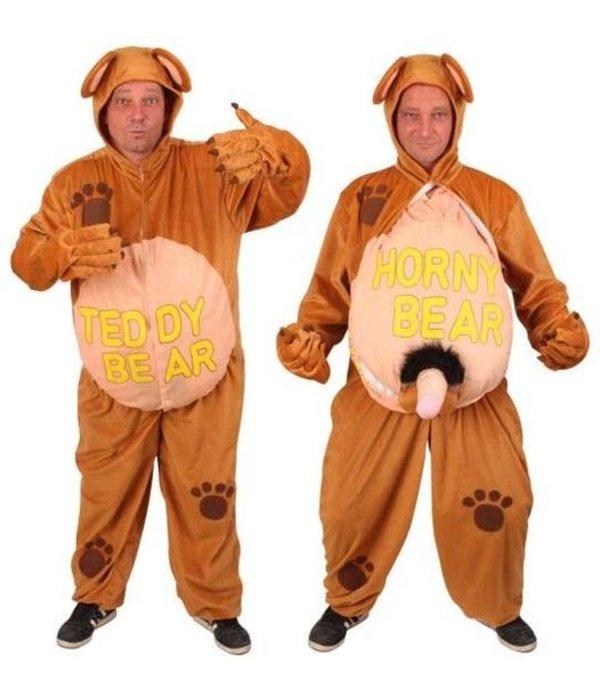 Kostuum Teddy-Horny Bear