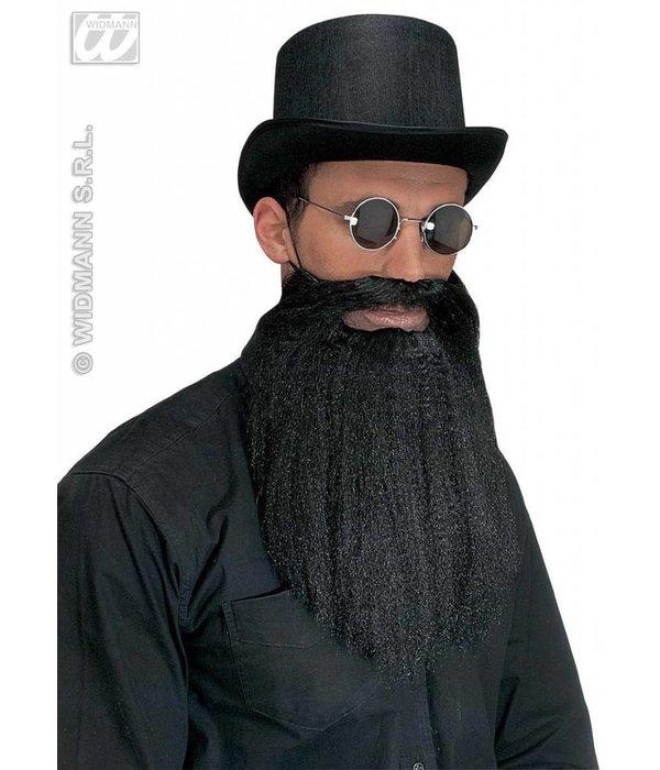 Baard met snor en lippen zwart