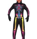 Neon Skelettenpak man