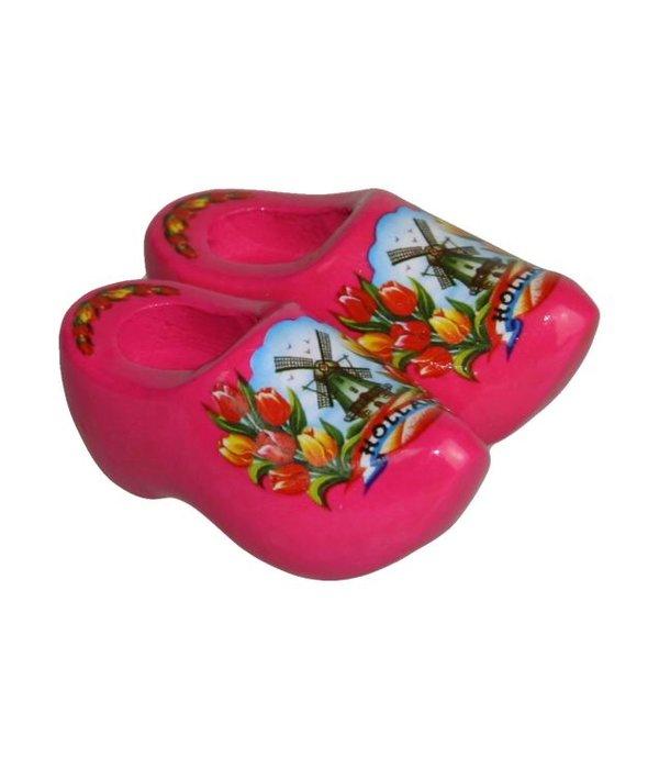 Magneetklomen molen/tulp roze