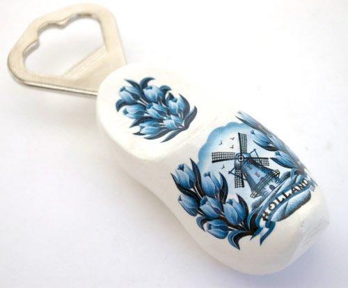 Flesopener klomp Delfts blauw