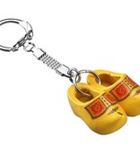 Sleutelhanger klompje dubbel geel