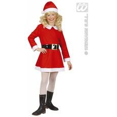 Kerstmeisje flanel kostuum