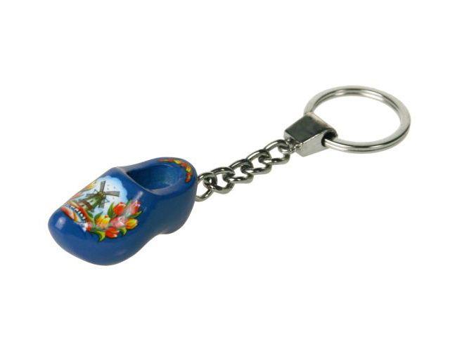 Sleutelhanger 1 klompje blauw 4cm