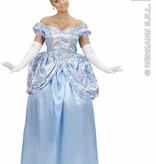 Blauwe prinses kostuum vrouw