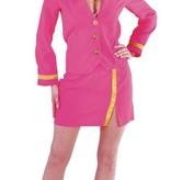 Stewardess pakje roze elite