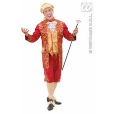 Markies kostuum fluweel rood