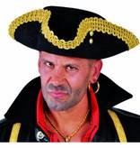 Elite hoed Captain gouden rand