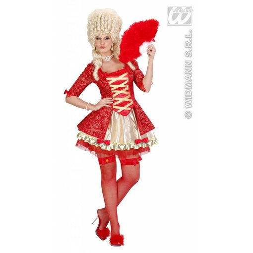 Barok jurk koningin rood