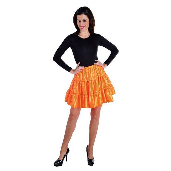 Volangen rok kort oranje