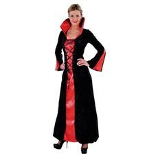 Vampier dame jurk rood/zwart