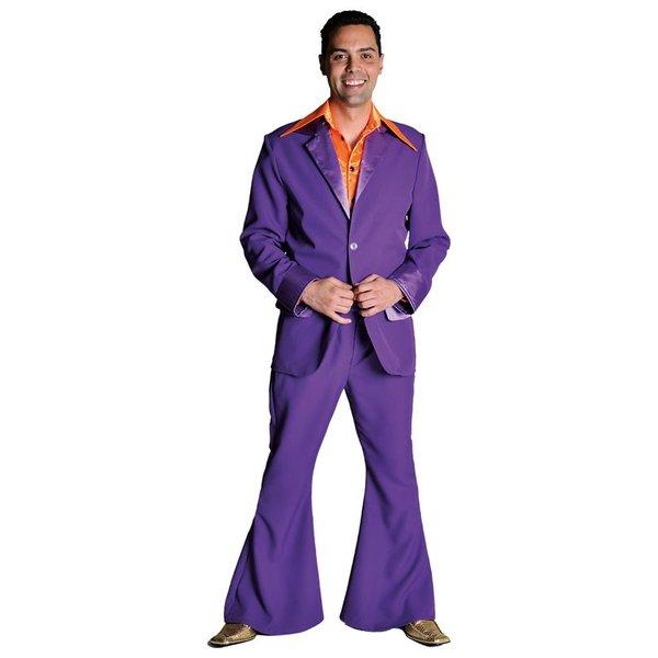Gala 70's kostuum paars