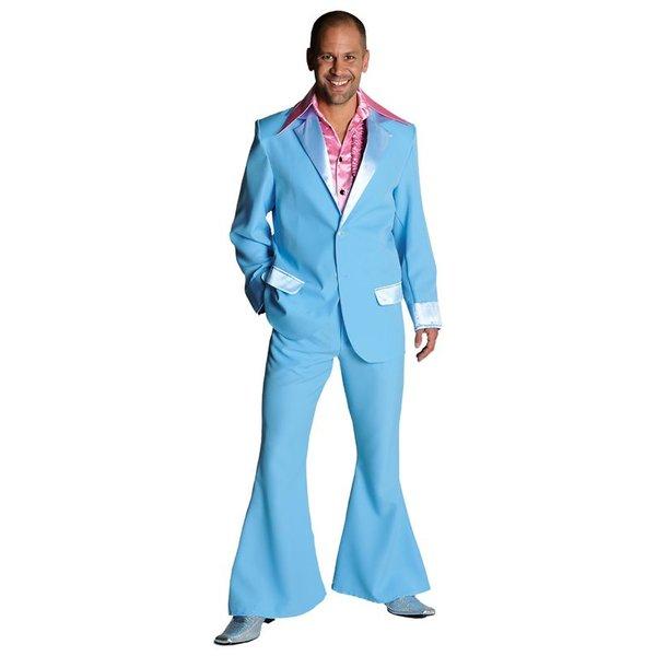 Gala feestkostuum blauw elite