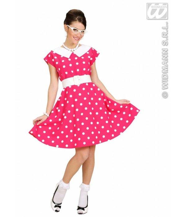 Jurk 50's roze met petticoat