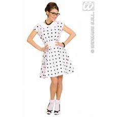 Jurk 50's wit met petticoat