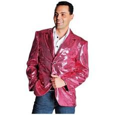 Colbert pailletten roze gevoerd elite