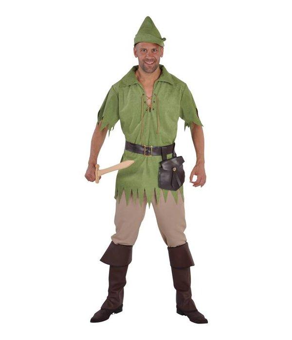 Robin Hood kostuum man 5-delig groen
