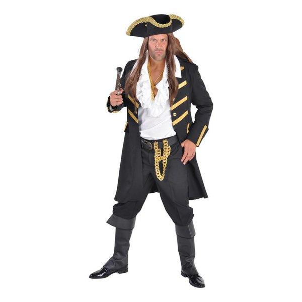 Piratenmantel luxe zwart