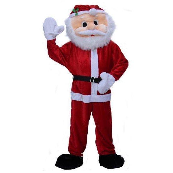Kostuum kerstman pluche big