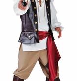 Piratenkostuum man elite 4-delig