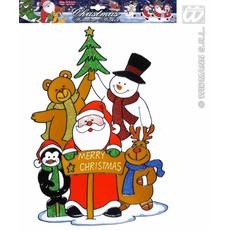 Raamsticker kerstfeest 40cm