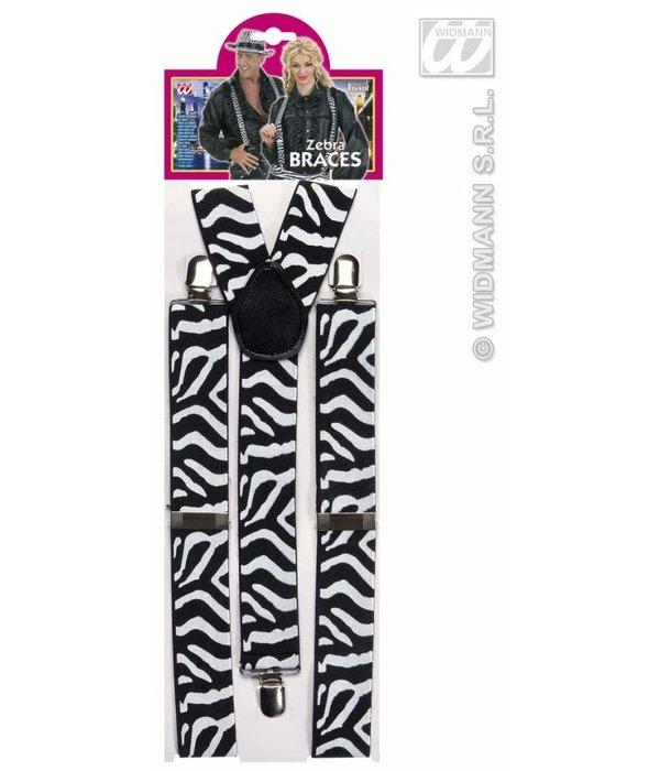 Bretels zebra zwart/wit