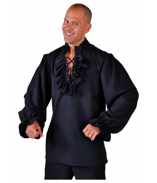 Piratenblouse zwart elite