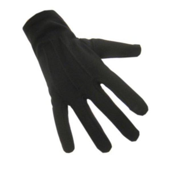 Handschoenen kort zwart katoen
