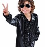 Hippie/Disco blouse kind zwart